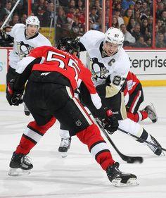 Sidney Crosby Pittsburgh Penguins vs Ottawa Senators
