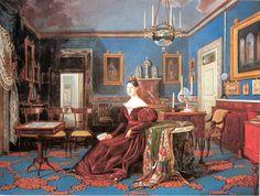 Carlo De Falco, Maria Cristina di Savoia in una sala della Reggia di Napoli, 1836. Napoli, Palazzo Reale