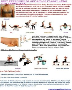 """ BEST EXERCISES TO GET RID OF FLABBY ARMS AND ARMPITS FAT """