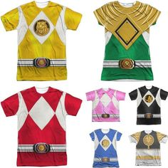 Looking for a fun #GroupCostume for #Halloween this year!? These #PowerRanger shirts are perfect. Make sure to check the est. delivery dates of your holiday items before ordering! #SquadGoals http://ift.tt/2dQ3GkB