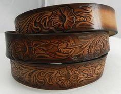 Name Belt. Western design NBT928 Includes name in by GavereLeather