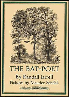 Librarian: L. Kopf, children's librarian at Richmond Free Library Book: The Bat-Poet by Randall Jarrell and illustrated by Maurice Sendak Age range: 6 and up. Maurice Sendak, Hans Christian, Best Children Books, Childrens Books, Vintage Books, Vintage World Maps, Illustrations, Book Illustration, Writers