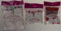 Lot 18 Pairs Baby Toddler Socks 6-18 Mo White Flowers Just For Little Feet USA #JustForLittleFeet