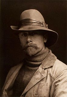 1889 self portrait Edward S. Curtis - In 1906 J. P. Morgan provided Curtis with $75k to produce a series on the North American Indian. 20 volumes with 1,500 photographs. Morgan's funds were earmarked to support only fieldwork for the books not for writing, editing, or production of the volumes. Curtis himself would receive no salary for the 20yr project. Morgan received 25 sets and 500 original prints as his method of payment.