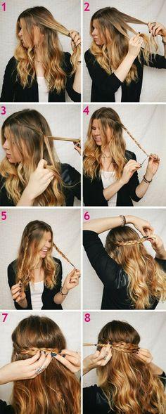 cabelo, tutorial, penteado, tranças, trança