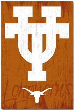 University of Texas Longhorns UT Classic Official NCAA Logo Poster - Costacos 2013 Texas Logo, Texas Longhorns Football, Ut Longhorns, Ut Football, College Football Teams, Sports Teams, College Sport, Collage Football, Hook Em Horns