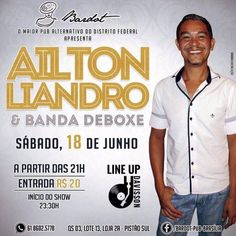 #VEJA Bardot Pub: Ailton Liandro e Banda Deboxe #agenda @paroutudo via ParouTudo http://ift.tt/1PzLkPB #Raynniere #Makepeace