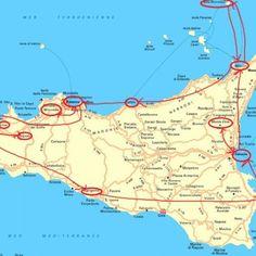 Agrigento tourist map | Italy | Sicily, Sicily travel, Italy