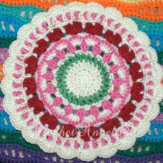 Ravelry: Project Gallery for Summer Hearts Mandala pattern by Marinke Slump