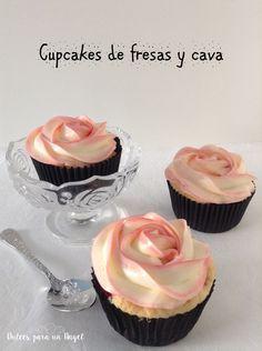 Cupcakes de cava y fresas