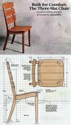 The Three-Slat Chair Plans - Furniture Plans and Projects | WoodArchivist.com #woodworkingbench