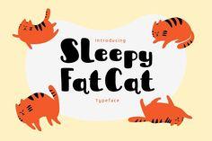 Sleepy Fat Cat Typeface by me55enjah on @creativemarket