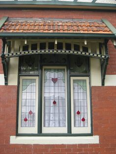 Art Nouveau Stained Glass Window...