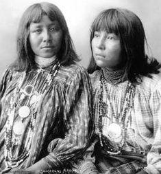 Apache women wearing indian jewelry 1898
