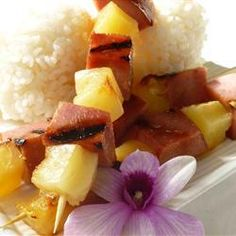 """Ham and Pineapple Kabobs 
