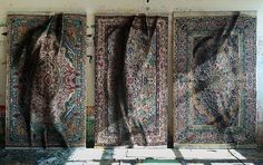 <p>Madrid born artist Antonio Santin now lives and works in NYC. Painter or carpet manufacturer, he's probably both. By only using pen tools as weaving way for his embellished rugs, he creates incredi
