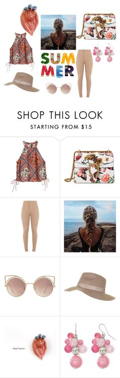 """""""Summer stuff"""" by abigailsmycken on Polyvore featuring Gucci, MANGO, Topshop, Mixit, Summer, Pink, comfy, colorful and pastels"""