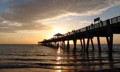Sunday's sunrise at Juno Pier...