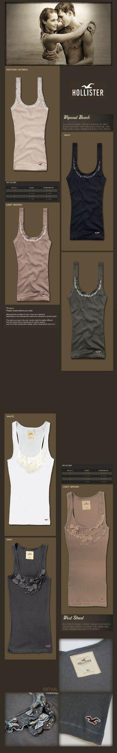 Hollister Hollister, Basic Tank Top, My Design, Women's Fashion, Lifestyle, Tank Tops, Board, Cute