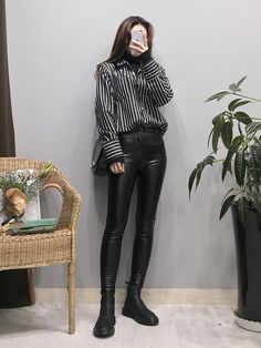 kwan jeong sook, bts' and only female member. [ 190328 ~ ] ↓ re… # Фанфик # amreading # books # wattpad Korean Street Fashion, Korea Fashion, 70s Fashion, Cute Fashion, Asian Fashion, Look Fashion, Girl Fashion, Fashion Trends, Kpop Fashion Outfits