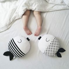 Meet Wanda and Oscar, handmade cotton fish with stripes and dots. They are not only toys, but also can be used as a small pillow or just a simple a...