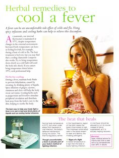 Herbal remedies to cool a fever