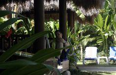 Me at Waterbom water park, Bali, Indonesia