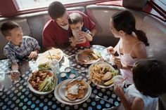 Many restaurants serve hearty portions, so adults may want to order meals and share with the children to save money, suggests Tim Zagat, the founder and publisher of Zagat Survey. (Polka Dot Images via The Daily Meal)
