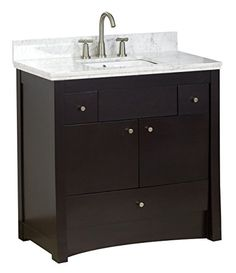 American Imaginations AI1629 Transitional Birch WoodVeneer Vanity Base Only 35 x 175 Distressed Antique Walnut -- Want additional info? Click on the image. (This is an affiliate link) #Furniture