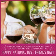 Tomorrow (6/8) is National Best Friends Day! Cheers to our BFFs!