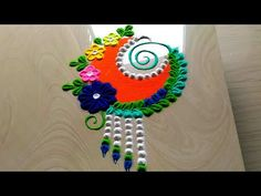 Very innovative small rangoli designs by jyoti Rathod Easy Rangoli Designs Videos, Indian Rangoli Designs, Rangoli Designs Latest, Rangoli Designs Flower, Rangoli Patterns, Colorful Rangoli Designs, Rangoli Ideas, Rangoli Designs Images, Flower Rangoli