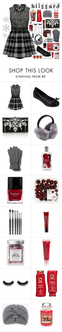"""""""Baby It's Cold Outside"""" by ilikepurpleflowers ❤ liked on Polyvore featuring Melissa, Judith Leiber, Lacoste, Butter London, philosophy, DuWop, Hermès, Muji, Chapstick and Herbal Essences"""