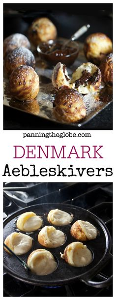 Danish Aebleskivers: delicious spherical pancakes served at holiday time • fun to make and to eat! • Panning The Globe