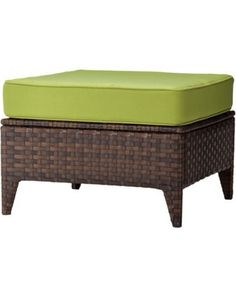 Belmont Brown Wicker Patio Sectional Ottoman