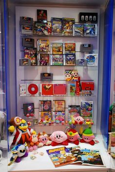 Star Fox, F-Zero, Earthbound, and Kirby Franchise Cabinet at Nintendo World, wasn't on display during my visit though. Nintendo Store, Nintendo World, Nintendo Sega, Comic Book Storage, Game Storage, Video Game Industry, Star Fox, Thing 1, Game Room Decor