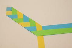 braid of paper strips - for bookmark, napkin ring, bracelet. . . . (tutorial)