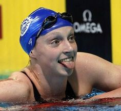 """The scene from Kathleen """"Katie"""" Ledecky's Bethesda school as friends saw their 15-year-old friend swim to Olympic gold."""