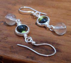 Collide earrings Fluorite stones dangle beneath green by otherDays, $18.00