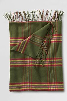 Holiday Plaid Throw from Lands' End