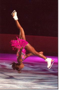 Surya Bonaly at the 1998 Winter Olympics, completed one bladed back flip. To this day she is the only skater to ever do this - not the only female figure skater, the only figure skater period. There have been 3 other skaters who have done back flips in competition (all men), but she was the only one to land on one blade.