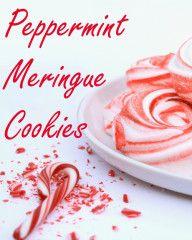 Peppermint Meringue Cookies from LilaLoa #BringtheCOOKIES
