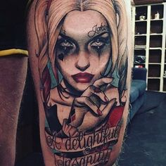 Harley Quinn A Delightful Insanity Tattoo Idea