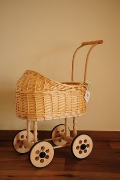 Not plastic. Gorgeous. Doll Stroller / Doll Carriage / pram/ buggy by shoshke on Etsy, $125.00