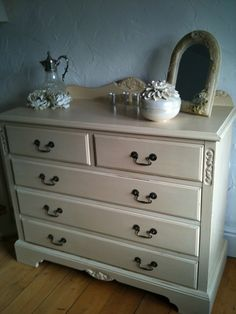 Wardrobe Project: Wardrobe to match this chest of drawers which was originally honeyed-pine, now transformed with Annie Sloan Old Ochre Chalk Paint.  The ensemble have transformed a guest bedroom which was crying out for a make-over.