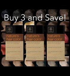3 Boxes Of APIVITA Natures Hair Color  dadc1144564