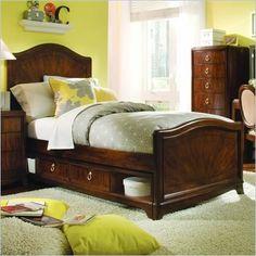 Lea Elite Rhapsody Panel Bed in Cherry Finish Willow Furniture, Girls Furniture, Dark Wood Furniture, New Furniture, Furniture Vanity, Kids Bedroom Designs, Kids Bedroom Sets, Kids Room, Master Bedroom Redo