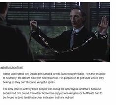 The death scenes actually made me very calm, especially his entrance