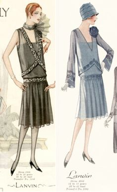 Lanvin Dress Fashions, Summer 1927