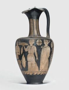 Campanian red figure vase; attributed to the Rhomboid Group; ca. 320 B.C