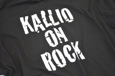 Kallio on rock -painatus